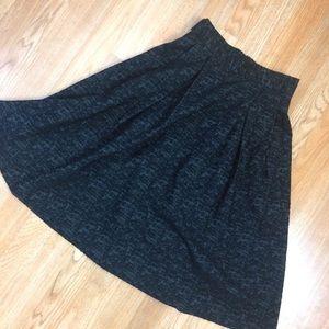 H&M black burnt velvet print swing skirt 2